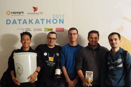 Les gagnants du Datakathon 2017